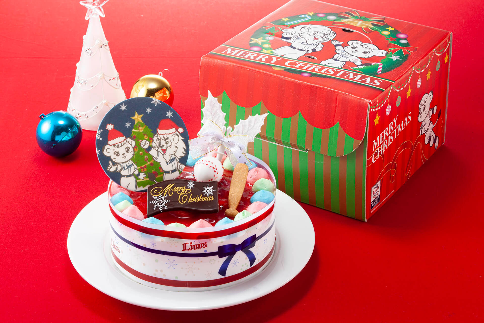 「ライオンズオリジナルクリスマスケーキ」「ライオンズクリスマスグッズ」受注販売開始