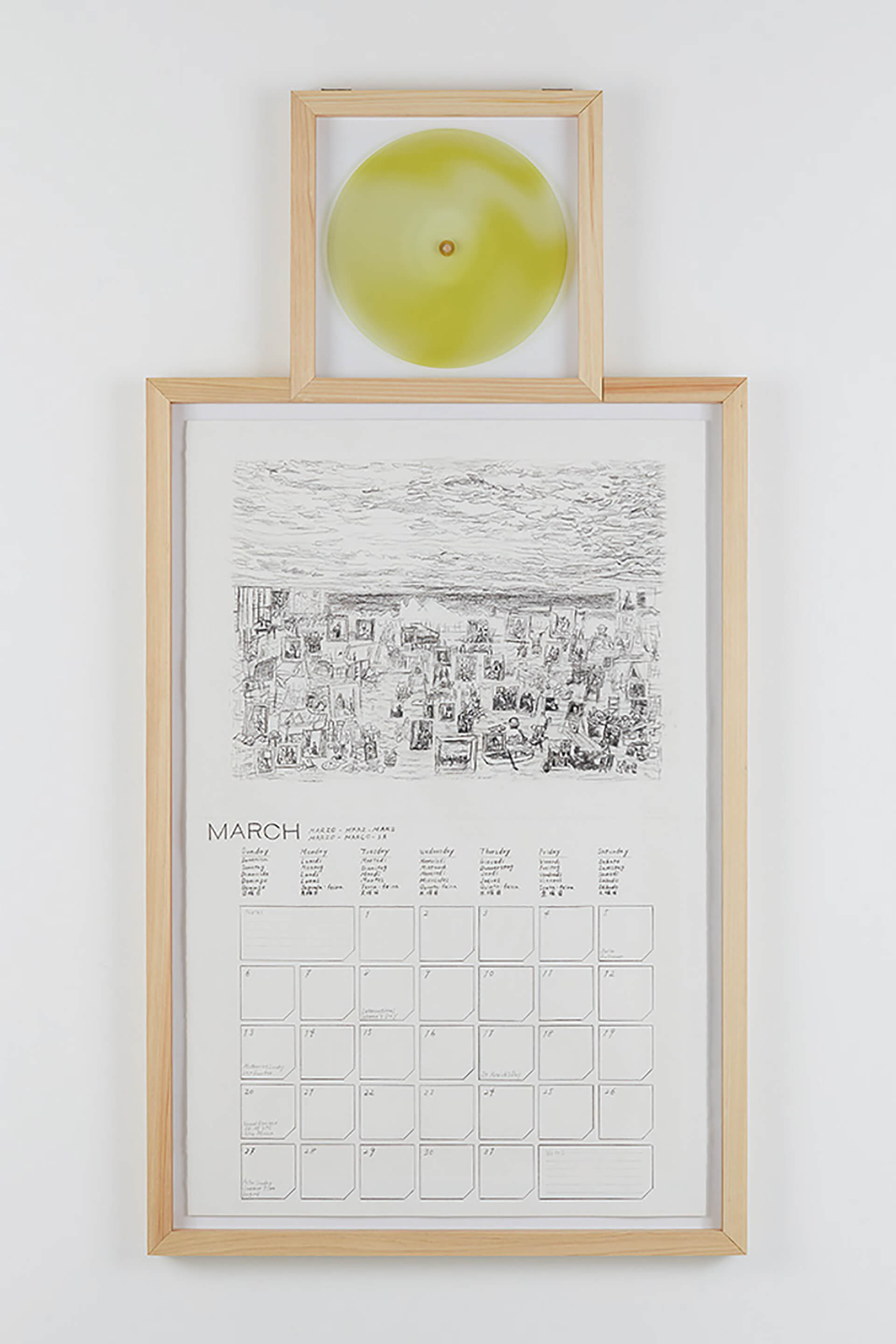 桑久保 徹 A Calendar for Painters without Time Sense. 12/12