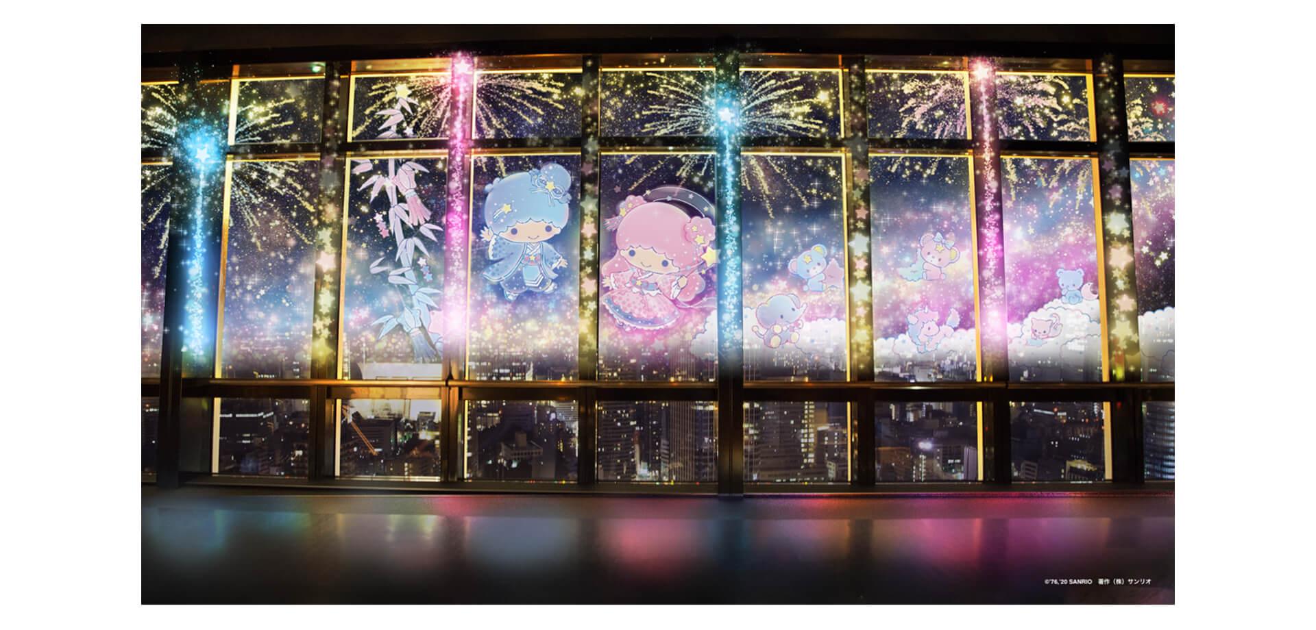ネイキッド×東京タワー×キキ&ララの打上花火