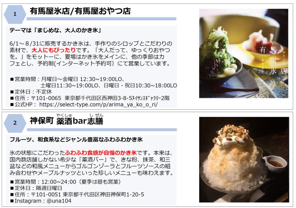 千代田区・かき氷店