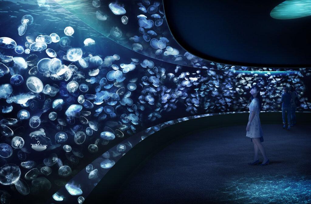 夜のサンシャイン水族館「虹色のクラゲと夜のさがしもの」
